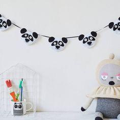 Felt Panda Garland