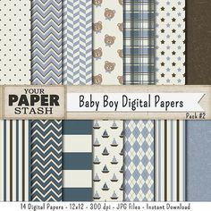 I love the color combinations in this paper pack. It is full of great patterns for any baby boy craft/creative project that you are working on!