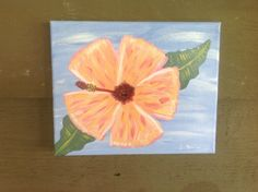 KEY WEST pink  Hibiscus flower original by Paintingsfromkeywest, $30.00