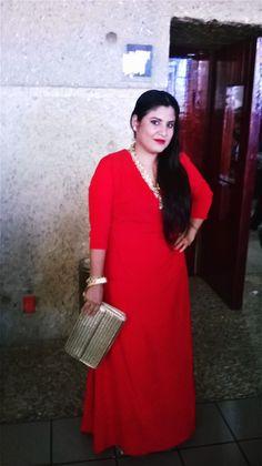 #vestidoconmangas #rojo
