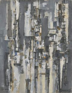 "Maria Elena Vieira da Silva, ""Rotterdam,"" 1956. Oil on canvas, 65x46 cm. In the museum's collection."