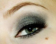 Smokey Gray Eye Makeup With Sparkling Touch