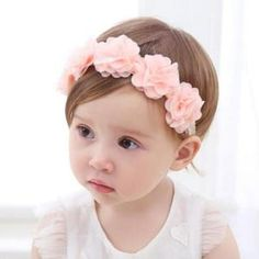 So adorable! This delicate pink flowers crown is perfect for a baby shower  gift f57d0b5bb9c9