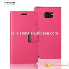 2016 Latest stand and flip function card slot mobile shell pu leather case for Samsung Galaxy Note 5