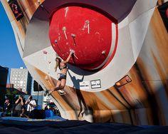 Sasha DiGiulian @ The Mammut Bouldering Competition - SLC, UT 2009.