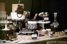 elegant Great Gatsby dessert table on Amy Atlas blog - lots of great pictures, so it's worth checking out!