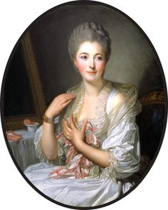 Madame de Courcelles at Her Toilette by Jean Baptiste Greuze (private collection) | Grand Ladies |