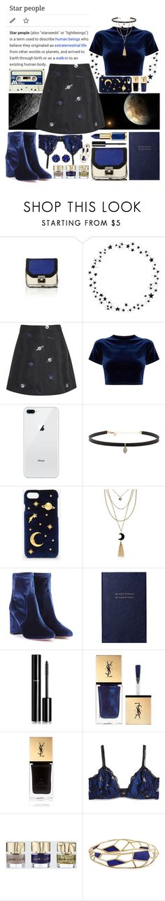 """""""Star People"""" by laumk ❤ liked on Polyvore featuring Camp, Lulu and Co., Carbon & Hyde, CHARLES & KEITH, Aquazzura, Smythson, Chanel, Yves Saint Laurent, Heidi Klum and Smith & Cult"""