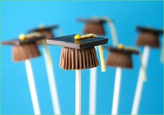 Chocolate Graduation Cap Candy Pops