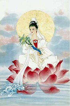 Kuan-Yin enseñando al mundo como usar su voz.