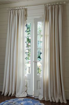 light colored drapery, love the TULIP shape curves and flow! Mas Quilted Drapery Panel from Soft Surroundings Beige Curtains, Purple Curtains, Shabby Chic Curtains, Ikea Curtains, Nursery Curtains, Long Curtains, Burlap Curtains, Velvet Curtains, Colorful Curtains