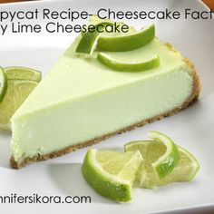 Cheesecake Factory Copycat Key Lime Cheesecake This is a fabulous copycat recipe for The Cheesecake Factory's Key Lime Cheesecake Cheesecake Factory Key Lime Cheesecake Recipe, How To Make Cheesecake, Cheesecake Recipes, Dessert Recipes, Apple Cheesecake, Strawberry Cheesecake, Lime Recipes, Copycat Recipes, Sweet Recipes