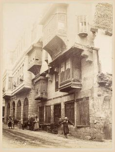 Image of Darb al-Ahmar district of Cairo in the late nineteenth century