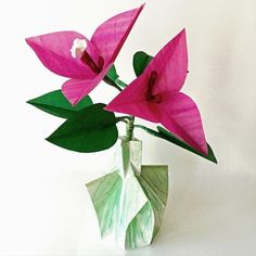62 best small origami flower arrangements images on pinterest origami boungaville flower mightylinksfo