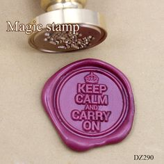 Keep Clam and Carry On Wax Seal Stamp wedding stamp by MagicStamp