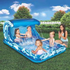Outdoor Toys Play Yard Banzai Big Wave Splash Park for sale online Oberirdische Pools, Cool Pools, Outdoor Toys, Outdoor Fun, Outdoor Ideas, Kids Sprinkler, Splash Park, Kid Pool, Play Pool