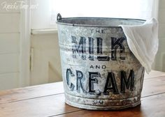 Farmhouse Charming Upcycled Galvanized Bucket