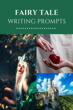 Everyone knows the old, familiar fairy tales of evil queens, curses, and heroic princes. Why not write your own? Get inspired with these fairy tale writing prompts and story ideas. Writing Fantasy, Fantasy Story, High Fantasy, Medieval Fantasy, Fantasy Books, Fiction Writing, Writing A Book, Writing Prompts, Writing Resources