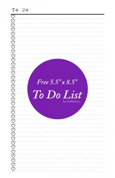 Free To Do List Printable | dielikedisco.com