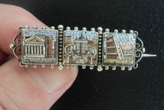 Vintage Micro Mosaic Italian Brooch - St. Peter's Square / Pantheon / Colosseum in Jewellery & Watches, Vintage & Antique Jewellery, Vintage Fine Jewellery   eBay