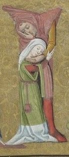 Initiales historiées- Horae ad usum Parisiensem. Date d'édition : 1475-1500 http://gallica.bnf.fr/ark:/12148/btv1b8432895r/f113.item