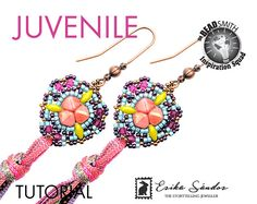 Juvenile earrings instant dowload for the pdf instructions