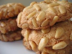 Agnese Italian Recipes: Easy Italian biscuits with pine recipe. The biscuits with pine nuts are a classic Italian cuisine. Quick and easy to cook are suitable for breakfast as fast tasty snack. Italian Cookie Recipes, Sicilian Recipes, Italian Cookies, Italian Desserts, Sicilian Food, Italian Foods, Italian Christmas Cookies, Christmas Baking, Pine Nut Cookies Recipe
