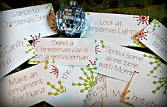 The Iowa Farmer's Wife: 5 Days of Advent Calendars: Advent Action Cards