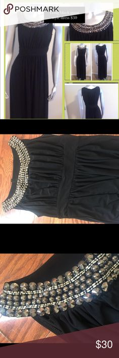 Long Black Maxi Style Dress Very nice maxi dress. You can dress this dress up with heels. Or wear it with flats. Dresses Maxi