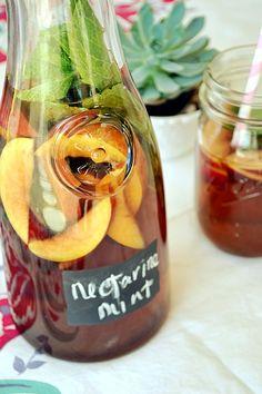 Nectarine Mint Sweet Tea ....Summer Tea