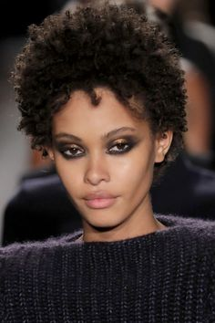 Brandon Maxwell Tom Pecheux, who painted the strong black-and-metallic eyeshadow on each model