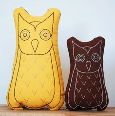 Yellow and Brown Owls.