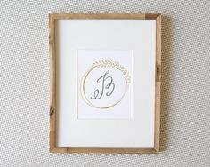 Laurel Monogram Print by Lindsay Letters