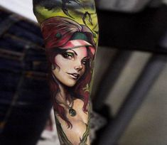 Poison Ivy tattoo by Andrey Stepanov