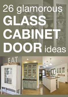 26 glamorous glass cabinet door ideas