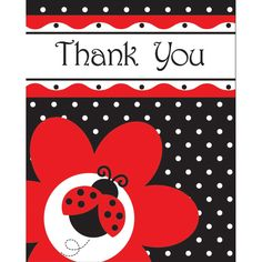 Creative Ladybug Fancy Thank You Cards Case of 48