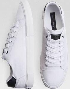 Tommy Hilfiger White Tennis Shoes - Men s Boat Shoes  ee673163597