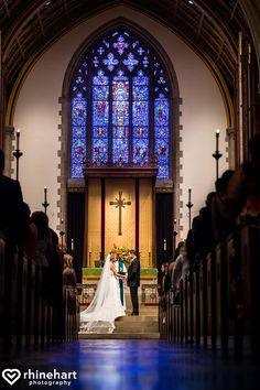 Classic wedding ceremony in a historic church, Wedding Ceremony Venues, churches in Baltimore, Christ Lutheran Church Baltimore, creative unique vibrant best wedding photographers baltimore
