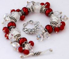 RESERVED  Christmas Candy Cane Charm Bracelet by shalayneoriginals