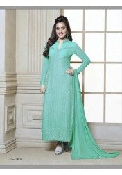 NEHA SHARMA AQUA BLUE SALWAR SUIT BY FIONA at just Rs.2899/- on www.vendorvilla.com. Cash on Delivery, Easy Returns, Lowest Price.