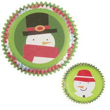 Mini Snowman Themed Cupcake Liners by Wilton
