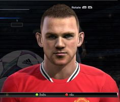 Wayne Rooney face for Pro Evolution Soccer 2012 Pro Evolution Soccer, Wayne Rooney, Faces, Fictional Characters, Pes 2013, The Face, Fantasy Characters, Face