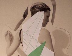 Swimmer, paper collage 2013 by Moni Wilk