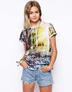 Enlarge ASOS T-Shirt with Forest Scene Print
