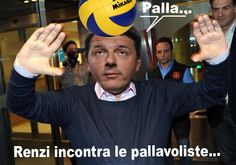 Vignettismo Renzi incontra le pallavoliste..