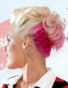 It would be odd to talk about pink hair without mentioning the singer Pink.