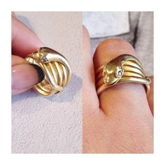 Fun antique & vintage snake rings. Available at Isadoras.com.