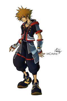 Sora KH3 original by MCAshe on DeviantArt