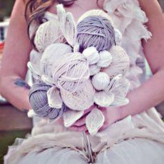 Yarn wedding bouquet. Hit or miss?