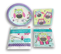 Girls' Owl Themed Party Supply Kit - Plates, Napkins, Ban... https://www.amazon.com/dp/B01JBC5DR2/ref=cm_sw_r_pi_dp_x_GPW9xbBDTM2WP
